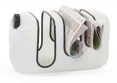 portariviste Porta riviste in plastica riciclata fai da te