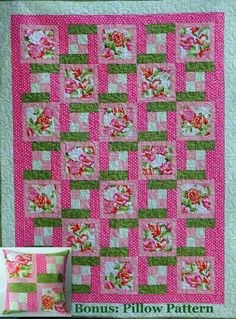 (7) Name: 'Quilting : 5-Yard Everyday Quilt + Pillow