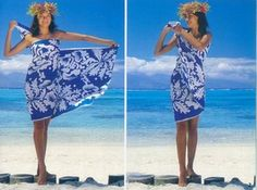 TIE A SARONG AS A ONE-SHOULDER DRESS
