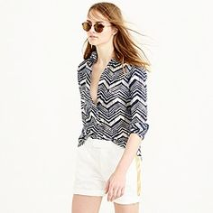 J. Crew  Boy shirt in multi chevron