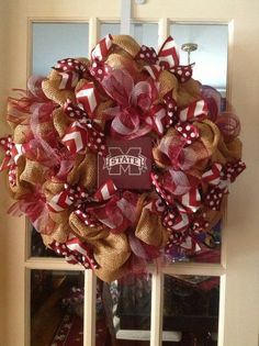 Mississippi State wreath....$50.00