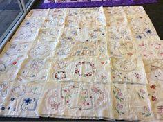 Lois's beautiful vintage doily quilt....