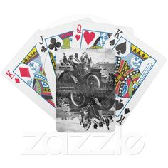 Historic Images Playing Cards ~ APACHES AND GERONIMO DRIVING A MOTOR CAR DECK OF CARDS from Zazzle.com