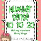 Number Sense 10 to 20 extends the skills of the packet Number Sense 1 to 9  by using the same format and basic procedures but practicing with the l...