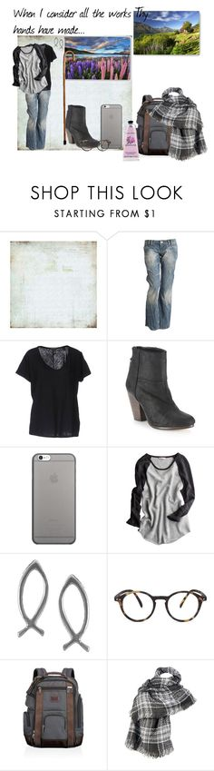 """Then sings my soul"" by ruthiefa ❤ liked on Polyvore featuring BasicGrey, Scotch & Soda, rag & bone, Native Union, Calypso St. Barth, Journee Collection, See Concept, Tumi, Wilsons Leather and Crabtree & Evelyn"