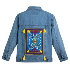 Product Image of Aladdin Denim Jacket for Women - Oh My Disney # 2 Disney Inspired Dresses, Disney Inspired Fashion, Disney Dresses, Disney Clothes, Disney Fashion, Disneyland Outfits, Disney Bound Outfits, Robes Disney, Disney Aladdin Genie