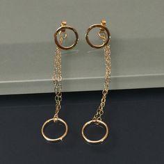 14K Circle Earrings/ 14K Solid Gold Studs/ Gold Post Earrings by EllynBlueJewelry on Etsy https://www.etsy.com/listing/244448525/14k-circle-earrings-14k-solid-gold-studs