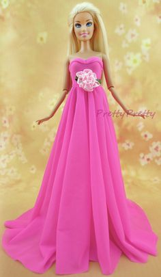 New Arrival Pink Outfit Handmade Doll maxiskit Fashion Dress for Barbie Doll Children Girls BEST Gift Baby Toy
