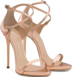 "Giuseppe Zanotti Nude ""Darcie"" Sandals is scintillating. A must have accent for every girl's closet."