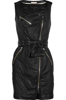Burberry leather dress