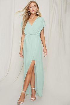 FOREVER 21+ Pretty By Rory Chiffon Maxi Dress