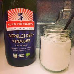 Bikarbonat för rengöring och äppelcidervinäger till sköljning Jag försöker allt eftersom att hitta bra och naturvänliga/ekologisk altern...