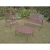 Found it at Wayfair - Santa Fe Iron Patio 3 Piece Lounge Seating Group $265