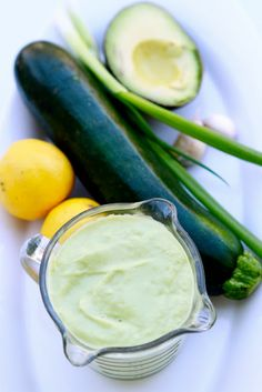 Naturally Ashley's Gluten-free, Raw, Vegan Creamy Caesar Salad Dressing Makes 1 1/2 cups 1 medium zucchini, peeled 2-3 cloves gar...