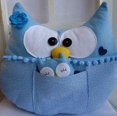 Almofada de coruja em feltro  ou soft ( dependendo da disponibilidade ) super macia, fofura pura!! Para mamães de meninos R$ 97,00