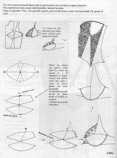 tus manos - Mara Renata - Álbumes web de Picasa Underwear Pattern, Lingerie Patterns, Clothing Patterns, Sewing Bras, Sewing Lingerie, Corset Pattern, Pattern Draping, Sewing Patterns Free, Vintage Patterns