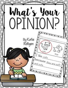 Opinion Writing - Help your Kindergarten students with a guided instruction approach to opinion writing. You get two different styles - open ended or choosing from two options. You get opinion writing pages, blank templates, picture pages, and more. Click through to see how this can help your kinders love the literacy writing process! (Plus get a FREE sample in the preview file.)