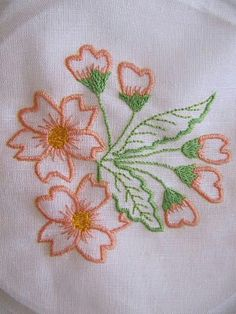 Shadow Embroidered Bow with Rosebud Spray - KLD Embroidery Designs Mexican Embroidery, Hand Embroidery Art, Vintage Embroidery, Cross Stitch Embroidery, Embroidery Patterns, Learn Embroidery, Embroidery Stitches Tutorial, Free Machine Embroidery Designs, Hawaiian Quilt Patterns