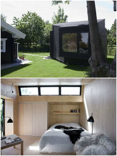 Minimalistic guest house blends beautifully with the natural surroundings