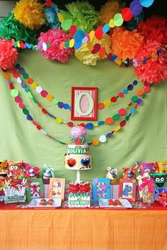 Sesame Street...or rainbow party inspiration!