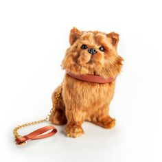 """*Realistic Pomeranian Pup features lustrous brush-able fur. *Includes removable brown collar and matching leash. *Comes in a kennel shaped box. Pomeranian is 5""""L x 6""""H x 3 1/2""""W. Molded plastic body with hand-applied, brush-able fur. Pet Dogs, Dogs And Puppies, Pets Online, Lps Pets, Our Generation Dolls, Pomeranian Puppy, Collar And Leash, 18 Inch Doll, Doll Accessories"""