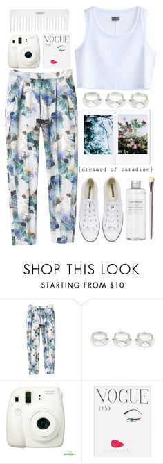 """""""dream"""" by ines-madrid ❤ liked on Polyvore featuring Rebecca Taylor, MTWTFSS Weekday, Conair, Converse, Muji, women's clothing, women, female, woman and misses"""