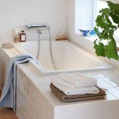 Bilderesultat for innebygd badekar Alcove, Bathtub, Bathroom, Blogging, Standing Bath, Washroom, Bathtubs, Bath Tube, Full Bath