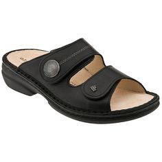 Your feet serve you well, so treat them to the Finn Comfort Sansibar sandal. Handmade in Europe, this women's slide sandal features a leather upper for durability and a vegetable-tanned leather lining to wick away moisture. The shock-absorbing Finn Comfort Footbed is ergonomically designed to support and cushion your foot and can be removed for airing and hand washing.