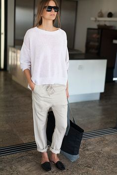 Pants & Denims | Emerson Fry. Love this simple elegant look for spring!
