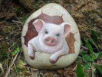 PedraBrasil: Pedras pintadas                                                                                                                                                      Mais Painted Pavers, Painted Rocks Craft, Hand Painted Rocks, Painted Stones, Pebble Painting, Pebble Art, Stone Painting, Rock Painting, Stone Crafts