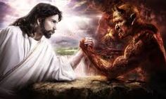 Jung, acceptance of the shadow: Jesus-arm-wrestling devil Jesus Wallpaper, Hd Wallpaper, Illuminati, Cosmos, Good And Evil, Papa Francisco, 5d Diamond Painting, Our Lady, Diy Painting