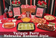 Football Tailgate Party--Nebraska style #Huskers
