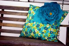finished flower blue by seesallysew, via Flickr