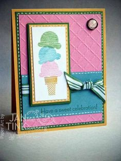 Greeting Card  Birthday Ice Cream for Wife Girlfriend by JanTink, $5.95 Daughter Birthday Cards, Birthday Kids, Card Birthday, Birthday Messages, Happy Birthday Cards, Birthday Greeting Cards, Card Envelopes, Paper Cards, Kids Cards