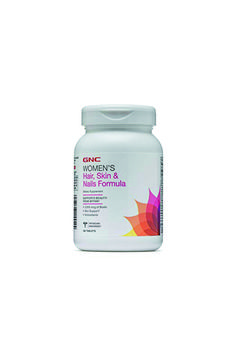 GNC Women's Hair, Skin & Nails Formula, 120 Caplets, Supports Beauty from Within Children's Vitamins, Healthy Brain, Weight Loss Help, Spirulina, Minerals, Healthy Lifestyle, Bodybuilding, Household, Nutrition