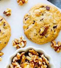 Healthy walnut cookies Low in carbohydrate Easy to lose weight - Recepten Healthy Cookies, Healthy Sweets, Healthy Baking, Healthy Snacks, Sport Snacks, Low Carb Recipes, Healthy Recipes, Chocolate Cookie Recipes, Healthy Chocolate