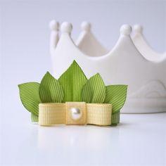 Princess and the Frog Tiana Leaf Crown Tiara Hair Clip. via Etsy.