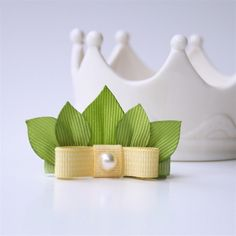 Princess and the Frog Tiana Leaf Crown Tiara Hair Clip. via Etsy.