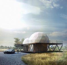 Galería de Dos domos y un zócalo: Casa 8 por B+V Arquitectos - 1
