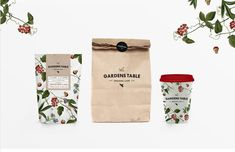 This Organic Cafe Branding Channels Images of an Idyllic Forest #minimalist trendhunter.com