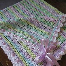 Crochet Blanket Edging, Crochet Bedspread Pattern, Baby Girl Crochet Blanket, Crochet Baby Blanket Free Pattern, Granny Square Crochet Pattern, Crochet Stitches Patterns, Baby Knitting, Afghans, Baby Blankets
