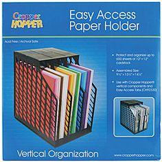 Cropper Hopper Negro soporte de papel