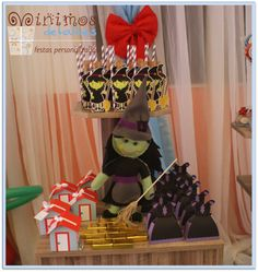 The bad witch at a Wizard of Oz girl birthday party!  See more party ideas at CatchMyParty.com!