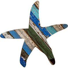 Coastal Wall Art from Reclaimed Molding - Starfish