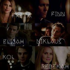 We are the Mikaelsons. | Freya, Finn, Elijah, Niklaus, Kol and Rebekah
