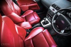 Red leather, Interior of Black amazing Ford Mondeo MK3 ST220 #ST #RS 3.0 V6 5 Doors