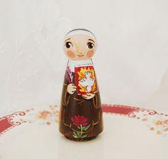 Santa Teresa de Avila la muñeca Católica Saint por SaintAnneStudio
