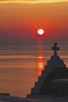 Sunset over Mykonos. Book you summer yacht charter in the Greek Islands with Burgess today - charter@burgessyachts.com #CruiseGreece #TheBurgessCharterExperience