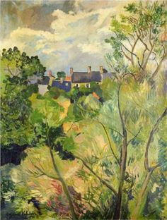 View from My Window in Genets (Brittany) - Suzanne Valadon - 1922