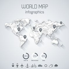 World map vector infographic template arte grfica pinterest creative world map and infographics vector graphics free vector in gumiabroncs Choice Image